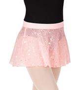 Girls Shaylee Flower Sequin Tulle Pull-On Skirt