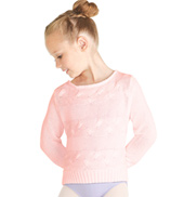 Girls Fleur Long Sleeve Cable Knit Sweater