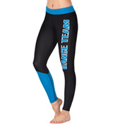 Adult Two-Tone Dance Team Active Ankle Leggings