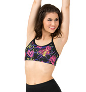 Sublimated Floral Dance Camisole Bra Top