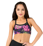 Child Sublimated Floral Dance Camisole Bra Top