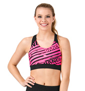 Sublimated Logo Dance Racer Bra Top