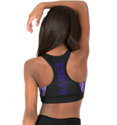 Child Sublimated Swirl Dance Racer Bra Top