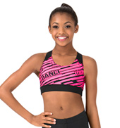 Child Sublimated Logo Dance Racer Bra Top