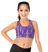Child Sublimated Dance Racer Bra Top