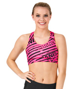Sublimated All Over Dance Racer Bra Top