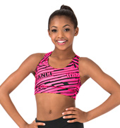 Child Sublimated All Over Dance Racer Bra Top