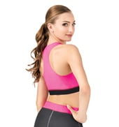 Sublimated Solid Racer Bra Top