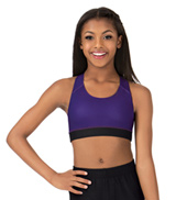 Child Sublimated Solid Racer Bra Top