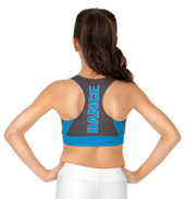 Sublimated Solid Dance Racer Bra Top