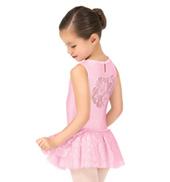 Girls Lace Heart Back Tank Ballet Dress