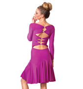 Adult Long Sleeve Short Ballroom Dress