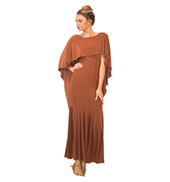 Womens Long Cape Ballroom Dress