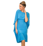Womens Short Cape Ballroom Dress