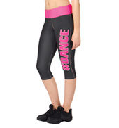 Adult Sublimated #Dance Capri Pant