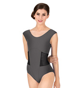 Adult Bolshoi Stars Collection Mesh Insert Short Sleeve Leotard