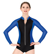 Adult Bolshoi Stars Collection Mesh Insert Long Sleeve Leotard