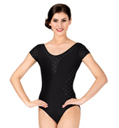 Adult Bolshoi Stars Collection Polka Dot Cap Sleeve Leotard