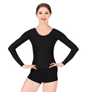 Adult Bolshoi Stars Collection Polka Dot Long Sleeve Unitard