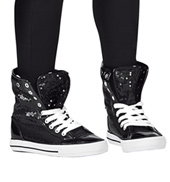Girls Hi-Top Sequin Fur Sneaker