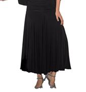 Womens Gathered Front Long Ballroom Skirt