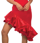 Womens Short Asymmetrical Ballroom Skirt