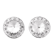 18mm Clear Stone Post Earring