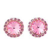 10mm Post Pink Grapefruit Stone Earrings