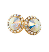 10mm Post Iridescent Rhinestone Earrings