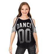 Girls Dance 00 Short Sleeve Cold Shoulder Top