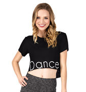 Adult Short Sleeve Dance Crop T-Shirt