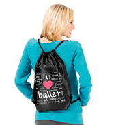 I Love Ballet Cinch Backpack