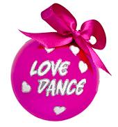 Love Dance Glass Ornament