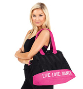 Live Love Dance Sequin Tote Bag