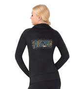 Womens Full Zipper Sequin Dance Jacket