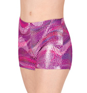 Girls Sound Wave Gymnastics Shorts