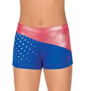 Girls Patriotic Print Shorts