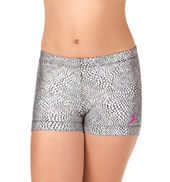 Girls Mosaic Glitter Dance Shorts
