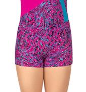Girls Animal Print Gymnastics Shorts
