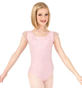 Girls Flutter Sleeve Leotard