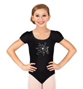 Girls Short Sleeve Stardust Leotard