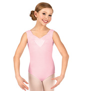 Girls Heart Insert Tank Leotard