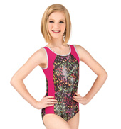 Girls Wild World Trestle Back Tank Leotard