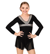 Girls Shine Long Sleeve Dance Dress