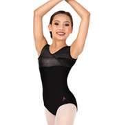 Girls Overlapping Tank Leotard