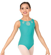 Girls Glitter Mesh Tank Leotard