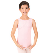 Girls Sweet Hearts Bow Back Tank Leotard