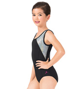Girls Mosaic Glitter Tank Leotard