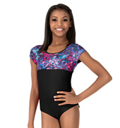 Girls Dreamy Petals Short Sleeve Leotard