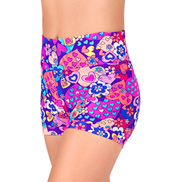 Girls Hearts Print Banded Leg Dance Shorts